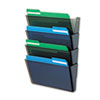 DEF73402 DocuPocket Four-Pocket Wall Set, Plastic, Letter, 13 x 4 x 7, Smoke DEF 73402