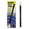 DIX00077 China Marker, Black, Dozen DIX 00077