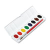 DIX00800 Professional Watercolors, 8 Assorted Colors,Oval Pans DIX 00800