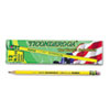 DIX13885 Woodcase Pencil, F #2.5, Yellow Barrel, Dozen DIX 13885