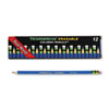 DIX14209 Ticonderoga Erasable Colored Pencils, 2.6 mm, Blue Lead/Barrel, Dozen DIX 14209