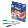 DIX80714 Prang Washable Markers, Fine Point, 12 Assorted Colors, 12/Set DIX 80714
