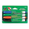 DIX92040 White System Dry Erase Marker, Chisel Tip, Assorted Colors, 4/Set DIX 92040