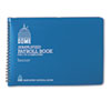 DOM710 Simplified Payroll Record, Light Blue Vinyl Cover, 7 1/2 x 10 1/2 Pages DOM 710
