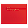 DOMM2512 Rental Property Record Book, 8 1/2 x 11, 60-Page Wirebound Book DOM M2512