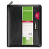 DRN1010299 Windsor Refillable Planner, Black, 5 1/2