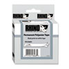 DYM18484 Rhino Permanent Poly Industrial Label Tape Cassette, 3/4in x 18ft, White DYM 18484