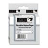 DYM18488 Rhino Flexible Nylon Industrial Label Tape Cassette, 1/2in x 11-1/2 ft, White DYM 18488