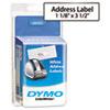 DYM30572 Address Labels, 1-1/8 x 3-1/2, White, 520/Pack DYM 30572