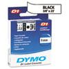 DYM41913 D1 Standard Tape Cartridge for Dymo Label Makers, 3/8in x 23ft, Black on White DYM 41913