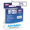 DYM45804 D1 Standard Tape Cartridge for Dymo Label Makers, 3/4in x 23ft, Blue on White DYM 45804