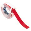 DYM520102 Self-Adhesive Glossy Labeling Tape for Embossers, 3/8in x 9-34ft Roll, Red DYM 520102
