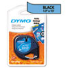 DYM91335 LetraTag Plastic Label Tape Cassette, 1/2in x 13ft, Ultra Blue DYM 91335