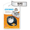 DYM91338 LetraTag Metallic Label Tape Cassette, 1/2in x13ft, Silver DYM 91338