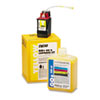 """OEM standard-yield 525 mL printer inkjet cartridge for Kodak® NovaJet 600, 700, 800, 4000 Series produces a 1.2 mL per sq. ft. yield at 100% coverage. Package includes one 500 mL bottle of ink, one 25 mL """"Plug-and-Play"""" ink cartridge and one service pack."""