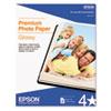EPSS041667 Premium Photo Paper, 68 lbs., High-Gloss, 8-1/2 x 11, 50 Sheets/Pack EPS S041667