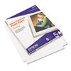 EPSS042175 Ultra-Premium Glossy Photo Paper, 79 lbs., 8-1/2 x 11, 50 Sheets/Pack EPS S042175