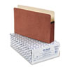 ESS1536GOX 5 1/4 Inch Expansion File Pocket, Manila/Red Fiber, Legal, 10/Box ESS 1536GOX