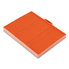ESS2051 Salmon Color Charge-Out Guides, 1/5 Tab, 11 Point Stock, Letter, 100/Box ESS 2051