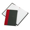 Boorum & Pease Record and Account Book with Black Cover and Red Spine