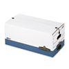 FEL0001103 Liberty Max Strength Storage Box, Ltr, 12 x 24 x 10, White/Blue, 4/Carton FEL 0001103