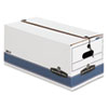 FEL0070403 Stor/File Storage Box, Letter, String and Button, White, 4/Carton FEL 0070403