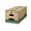 FEL00774 Stor/File Extra Strength Storage Box, Legal, String/Button, Kraft/Green, 12/Ctn FEL 00774