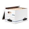 FEL5703604 Stor/File Storage Box, Letter/Legal, Lift-Off Lid, White, 6/Pack FEL 5703604