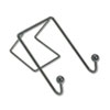 FEL75510 Partition Additions Wire Double-Garment Hook, 4 x 6, Black FEL 75510