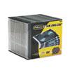 FEL98316 Thin Jewel Case, Clear/Black, 25/Pack FEL 98316