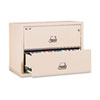 FIR23122CPA 2-Drawer Lateral File, 31-1/8w x 22-1/8d, UL Listed 350°, Ltr/Legal, Parchment FIR 23122CPA