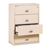 FIR43122CPA 4-Drawer Lateral File, 31-1/8w x 22-1/8d, UL Listed 350°, Ltr/Legal, Parchment FIR 43122CPA