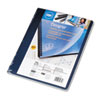 SWI25730 Opaque Plastic Binding System Covers, 11-1/4 x 8-3/4, Navy, 25/Pack SWI 25730