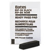 Black ink pad for multiple movement and lever movement numbering machines.
