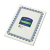 GEO22901 Parchment Paper Certificates, 8-1/2 x 11, Blue Royalty Border, 50/Pack GEO 22901