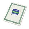 GEO39452 Parchment Paper Certificates, 8-1/2 x 11, Optima Green Border, 25/Pack GEO 39452