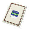 GEO45327 Parchment Paper Certificates, 8-1/2 x 11, Red Crown Border, 50/Pack GEO 45327