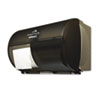 Compact Coreless Side-by-Side Double Roll Covered Tissue Dispenser
