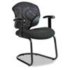 GLB1953 Tye Mesh Management Series Arm Chair w/Cantilever Base, Black GLB 1953