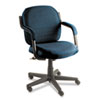 GLB4737BKPB08 Commerce Series Low-Back Swivel/Tilt Chair, Ocean Blue Fabric GLB 4737BKPB08