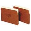GLW1514C One Inch Expansion Accordion Pocket, Straight, Manila/Redrope, Letter, Brown GLW 1514C