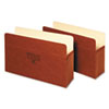 GLW1536G Five Inch Expansion Accordion Pocket, Straight, Manila/Redrope, Legal, Brown GLW 1536G