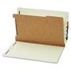GLW23314 Pressboard End Tab Classification Folders, Four Sections, Legal, Green, 10/Box GLW 23314