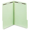 GLW29934 Folders, Two Inch Expansion, Two Fasteners, 1/3 Cut Tab, Legal, Green, 25/Box GLW 29934