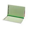 GLW47715 End Tab Folders, Two Fasteners, Two Inch Expansion, Legal, Green, 25/Box GLW 47715