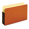 GLW64264 Drop Front Expanding File Pocket, Top Tab, 3 1/2 Inch, Legal, Brown, 10/Box GLW 64264