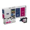HP C4962A (HP83) UV Printhead & Cleaner, UV Magenta