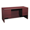 HON 10700 Series Kneespace Credenza with Three-Quarter Height Pedestals