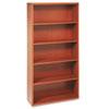 HON11555AXHH Valido 11500 Series Bookcase, 5 Shelves, 36w x 13-1/8d x 71h, Bourbon Cherry HON 11555AXHH