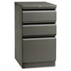HON18720RS Flagship Mobile Box/Box/File Pedestal, Full Radius Pull, 19-7/8d, Charcoal HON 18720RS